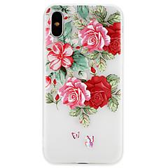 Недорогие Кейсы для iPhone X-Кейс для Назначение Apple iPhone X / iPhone 8 Ультратонкий Кейс на заднюю панель Бабочка / Цветы Мягкий ТПУ для iPhone X / iPhone 8 Pluss / iPhone 8