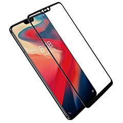 お買い得  その他のスクリーンプロテクター-スクリーンプロテクター のために OnePlus OnePlus 6 強化ガラス 1枚 フルボディプロテクター ハイディフィニション(HD) / 硬度9H / 2.5Dラウンドカットエッジ