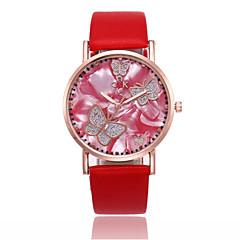 お買い得  レディース腕時計-女性用 リストウォッチ 中国 カジュアルウォッチ PU バンド カジュアル / ファッション ブラック / 白 / レッド
