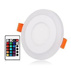 abordables Luces de Interior-ZDM® 1 juego 3 W 30 LED Nuevo diseño / Control remoto / Regulable Luces de Panel / Luces LED Descendentes RGB + Caliente / RGB + Blanco