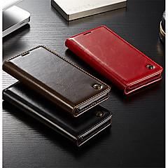 お買い得  Huawei Pシリーズケース/ カバー-ケース 用途 Huawei P20 / P20 Pro ウォレット / カードホルダー / フリップ フルボディーケース ソリッド ハード 本革 のために Huawei P20 / Huawei P20 Pro / Huawei P9 Lite