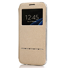 お買い得  Huawei Pシリーズケース/ カバー-ケース 用途 Huawei P10 Lite / P10 スタンド付き / ウィンドウ付き / フリップ フルボディーケース ソリッド ハード PUレザー のために P10 Plus / P10 Lite / P10