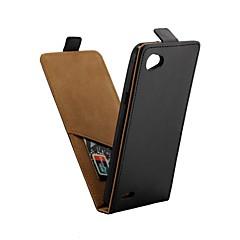 Недорогие Чехлы и кейсы для LG-Кейс для Назначение LG Q6 Бумажник для карт / Флип Чехол Однотонный Твердый Кожа PU для LG Q6