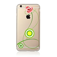 abordables Fundas para iPhone 4s / 4-Funda Para Apple iPhone X / iPhone 8 Transparente / Diseños Funda Trasera Flor Suave TPU para iPhone X / iPhone 8 Plus / iPhone 8