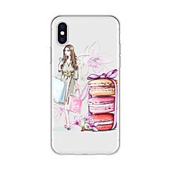 Недорогие Кейсы для iPhone-Кейс для Назначение Apple iPhone X / iPhone 8 Plus С узором Кейс на заднюю панель Соблазнительная девушка / Мультипликация / Цветы Мягкий ТПУ для iPhone X / iPhone 8 Pluss / iPhone 8