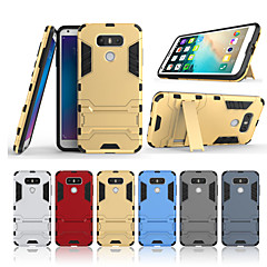 Недорогие Чехлы и кейсы для LG-Кейс для Назначение LG G6 со стендом Кейс на заднюю панель Однотонный Твердый ПК для LG G6