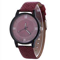 preiswerte Damenuhren-Damen Kleideruhr / Armbanduhr Chinesisch Kreativ / Armbanduhren für den Alltag / Großes Ziffernblatt PU Band Freizeit / Modisch Schwarz / Rot / Braun