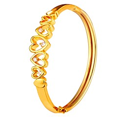 preiswerte Armbänder-Damen Armreife - Herz Modisch Armbänder Gold / Silber Für Geschenk / Alltag