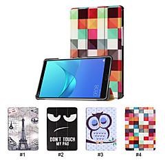 お買い得  タブレット用ケース-ケース 用途 Huawei MediaPad MediaPad M5 8 スタンド付き / 超薄型 フルボディーケース ソリッド ハード PUレザー のために MediaPad M5 8