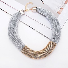 preiswerte Halsketten-Damen Lasso Schal Halskette - Büroklammer Klassisch, Modisch Gold, Schwarz, Grau 52 cm Modische Halsketten 1pc Für Alltag