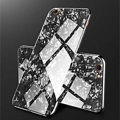 Недорогие Кейсы для iPhone 7-Кейс для Назначение Apple iPhone X / iPhone 8 Покрытие / Зеркальная поверхность Кейс на заднюю панель Мрамор Твердый Закаленное стекло для