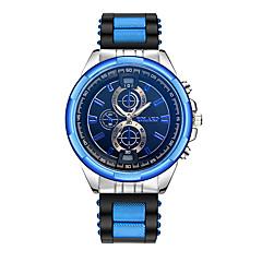 preiswerte Herrenuhren-Herrn Armbanduhr Chinesisch Armbanduhren für den Alltag Silikon Band Modisch Schwarz / Blau / Rot
