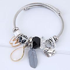 preiswerte Armbänder-Damen Quaste Bettelarmbänder - Herz, Feder Europäisch, Modisch Armbänder Grau / Rosa Für Alltag