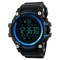 お買い得  メンズ腕時計-SKMEI 男性用 スポーツウォッチ / 軍用腕時計 日本産 Bluetooth / カレンダー / クロノグラフ付き PU バンド カジュアル / ファッション ブラック / レッド / ブラウン / リモートコントロール / ストップウォッチ