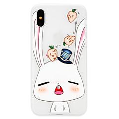 Недорогие Кейсы для iPhone 7 Plus-Кейс для Назначение Apple iPhone X / iPhone 8 Ультратонкий Кейс на заднюю панель Животное Мягкий ТПУ для iPhone X / iPhone 8 Pluss / iPhone 8