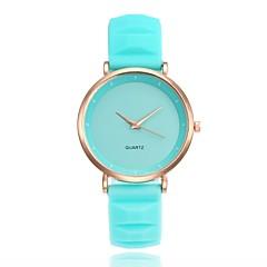 お買い得  レディース腕時計-Xu™ 女性用 リストウォッチ 中国 カジュアルウォッチ シリコーン バンド カジュアル / ファッション ブラック / 白 / ブルー