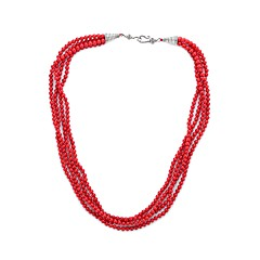 お買い得  ネックレス-女性用 真珠 クロスボディ ステートメントネックレス  -  真珠 ぜいたく, クラシック, ヴィンテージ レッド 56 cm ネックレス 1個 用途 パーティー, プロムドレス
