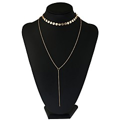 preiswerte Halsketten-Damen Lang Y Halskette  -  Blume Romantisch Gold, Silber 74 cm Modische Halsketten 1pc Für Party, Festtage