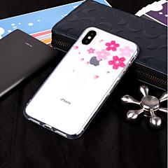 Недорогие Кейсы для iPhone 5-Кейс для Назначение Apple iPhone X / iPhone 8 IMD / Прозрачный / С узором Кейс на заднюю панель Цветы Мягкий ТПУ для iPhone X / iPhone 8 Pluss / iPhone 8