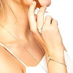 お買い得  ブレスレット-女性用 真珠 チェーン&リンクブレスレット リングブレスレット - 人造真珠 ヴィンテージ, ファッション, エレガント ブレスレット ゴールド / シルバー 用途 パーティー 式典