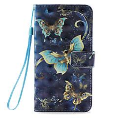 Недорогие Кейсы для iPhone 7-Кейс для Назначение Apple iPhone X / iPhone 8 Бумажник для карт / со стендом / Флип Чехол Бабочка Твердый Кожа PU для iPhone X / iPhone 8 Pluss / iPhone 8