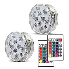 billige Udendørsbelysning-2pcs 5 W Undervandslamper Nyt Design / Fjernstyret / Dæmpbar RGB 4.5 V Velegnet til vaser og akvarier