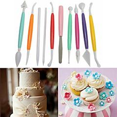 お買い得  ベイキング用品&ガジェット-ベークツール プラスチック DIY パン / ケーキ / Cupcake ケーキ型 / デザートデコレータ 10個