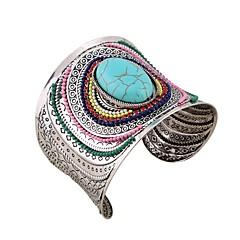 preiswerte Armbänder-Damen Manschetten-Armbänder - Blume Urlaub, Modisch, überdimensional Armbänder Schwarz / Blau Für Party / Verabredung
