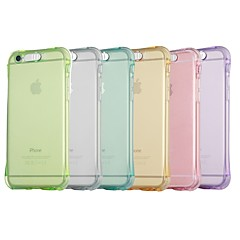 Недорогие Кейсы для iPhone 6 Plus-Кейс для Назначение Apple iPhone X / iPhone 8 Защита от удара / Мигающая LED подсветка Кейс на заднюю панель Однотонный Мягкий ТПУ для iPhone X / iPhone 8 Pluss / iPhone 8