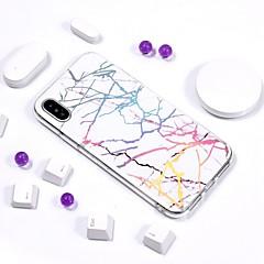 Недорогие Кейсы для iPhone 7-Кейс для Назначение Apple iPhone X / iPhone 8 Покрытие / IMD / С узором Кейс на заднюю панель Мрамор Мягкий ТПУ для iPhone X / iPhone 8