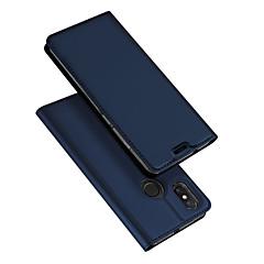 Недорогие Чехлы и кейсы для Xiaomi-Кейс для Назначение Xiaomi Mi 8 / Mi 8 SE Флип / Ультратонкий Чехол Однотонный Твердый Кожа PU для Xiaomi Mi Mix 2 / Xiaomi Mi Mix 2S / Xiaomi Mi Mix