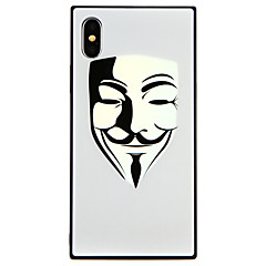 Недорогие Кейсы для iPhone X-Кейс для Назначение Apple iPhone X / iPhone 8 С узором Кейс на заднюю панель броня Твердый Закаленное стекло для iPhone X / iPhone 8 Pluss / iPhone 8