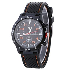 お買い得  レディース腕時計-Xu™ 女性用 スポーツウォッチ / リストウォッチ 中国 クリエイティブ / カジュアルウォッチ / クール シリコーン バンド カジュアル / ファッション ブラック / 白 / ブルー