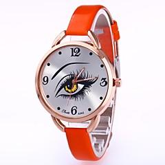 お買い得  レディース腕時計-女性用 ドレスウォッチ / リストウォッチ 中国 クリエイティブ / カジュアルウォッチ / 愛らしいです PU / 生地 バンド カジュアル / ファッション ブラック / 白 / ブルー
