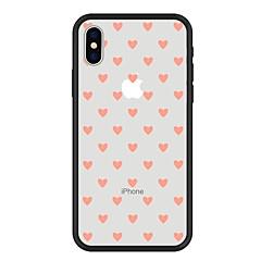 Недорогие Кейсы для iPhone 6-Кейс для Назначение Apple iPhone X / iPhone 8 Plus С узором Кейс на заднюю панель С сердцем / Мультипликация Твердый Акрил для iPhone X / iPhone 8 Pluss / iPhone 8