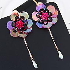 preiswerte Ohrringe-Damen Lang Tropfen-Ohrringe - Blume Europäisch, Modisch, überdimensional Rose / Grün / Blau Für Alltag