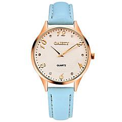 お買い得  レディース腕時計-女性用 リストウォッチ クォーツ クロノグラフ付き 模造ダイヤモンド PU バンド ハンズ バングル エレガント ブラック / 白 / ブルー - レッド ブルー ピンク 1年間 電池寿命 / SSUO LR626
