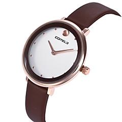 preiswerte Damenuhren-Damen Armbanduhr Armbanduhren für den Alltag / lieblich PU Band Freizeit / Modisch Schwarz / Weiß / Braun
