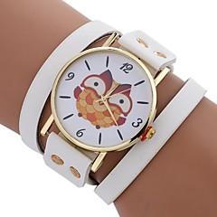 お買い得  レディース腕時計-Xu™ 女性用 ブレスレットウォッチ / リストウォッチ 中国 クリエイティブ / カジュアルウォッチ / 大きめ文字盤 PU バンド カジュアル / ファッション ブラック / 白 / レッド