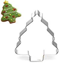 お買い得  ベイキング用品&ガジェット-クリスマスツリー松の木のクッキー金型ステンレスケーキの金型