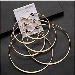 preiswerte Ohrringe-Damen Dicke Kette Kugel-Ohrringe - Kugel Künstlerisch, Einfach, Modisch Grau / Golden Für Alltag / Formal / 3 Paare