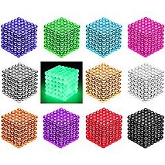 abordables Artículos Para la Fiesta de Halloween-216/512 pcs 3mm / 5mm Juguetes Magnéticos Bolas magnéticas Bloques de Construcción Puzzle Cube Magnético Imán de Neodimio Creativo Magnética inteligente Chico Chica Juguet Regalo