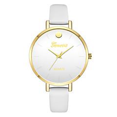 preiswerte Damenuhren-Geneva Damen Armbanduhr Chinesisch Neues Design / Armbanduhren für den Alltag / Cool Leder Band Freizeit / Modisch Schwarz / Weiß / Grün