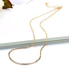 preiswerte Halsketten-Lucky Doll 1pc Kupfer vergoldet Draussen zum Gold Silber / Damen / Ketten / Ketten