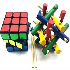 お買い得  マジックキューブ-ルービックキューブ z-cube ウッドクラフト スクランブルキューブ / フロッピーキューブ 3*3*3 スムーズなスピードキューブ ルービックキューブ パズルキューブ ストレスや不安の救済 ADD、ADHD、不安、自閉症を和らげる 青少年 成人 おもちゃ フリーサイズ 男の子 女の子 ギフト