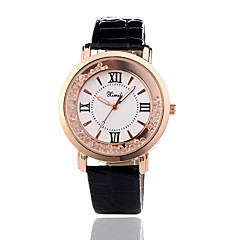 お買い得  レディース腕時計-女性用 リストウォッチ クォーツ カジュアルウォッチ レザー バンド ハンズ ファッション ブラック / 白 / レッド - ブラック レッド ピンク