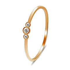 preiswerte Ringe-Damen Kristall / Kubikzirkonia Einzelkette Verlobungsring / Schwanzring - Tropfen Klassisch, Süß, Modisch Gold / Silber Für Verlobung / Geschenk / Alltag