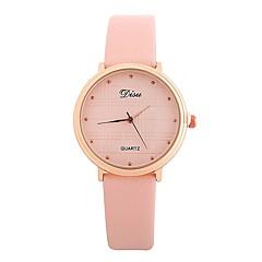 preiswerte Damenuhren-Damen Kleideruhr / Armbanduhr Chinesisch Armbanduhren für den Alltag PU Band Freizeit / Minimalistisch Schwarz / Braun / Grau