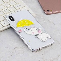 Недорогие Кейсы для iPhone 7-Кейс для Назначение Apple iPhone X / iPhone 8 Plus С узором Кейс на заднюю панель Слон Мягкий ТПУ для iPhone X / iPhone 8 Pluss / iPhone 8