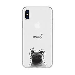 Недорогие Кейсы для iPhone 5-Кейс для Назначение Apple iPhone X / iPhone 8 Plus С узором Кейс на заднюю панель С собакой / Слова / выражения / Мультипликация Мягкий ТПУ для iPhone X / iPhone 8 Pluss / iPhone 8